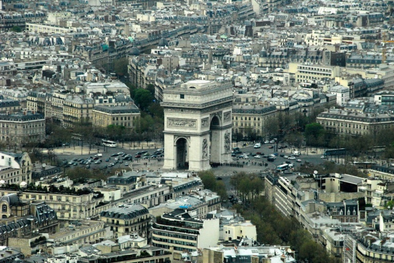 1313 - Arc de Triomphe from the Eiffel Tower