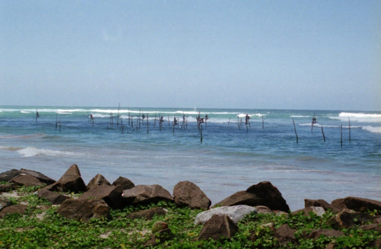 301 - Stilt fisherman near Galle