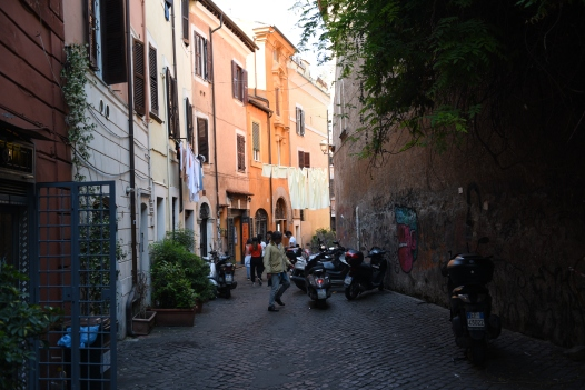 Typical Trastevere Street