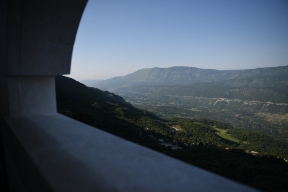 View from Ostrog Monastery