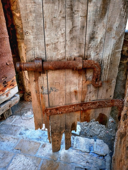 Budva fort entry - a little rusty